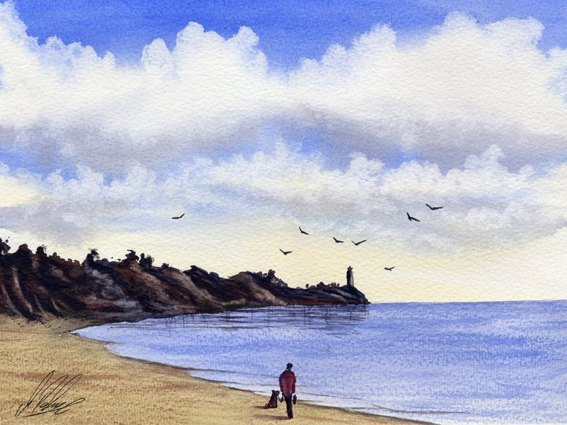 800x600 Watercolour Tutorial Painting A Cloudy Sky Seascape Part 1