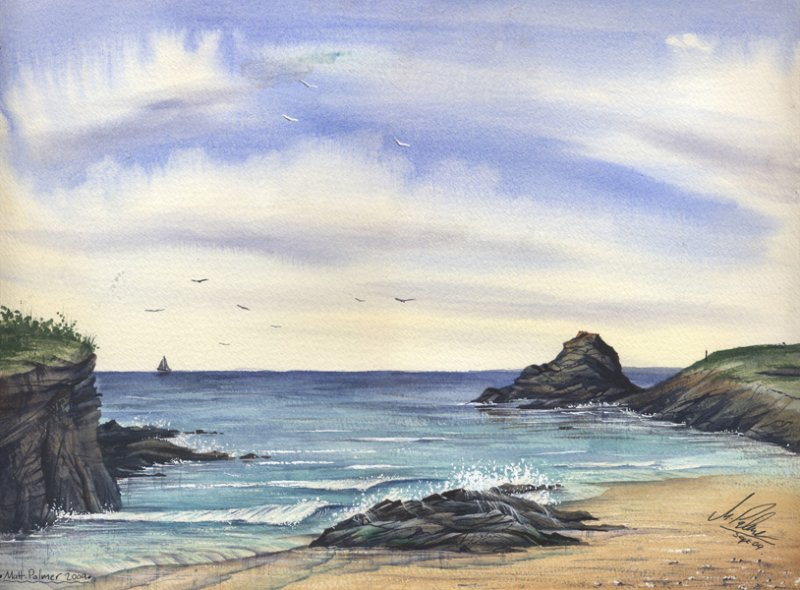 800x590 Watercolour Tutorial Painting A Cornish Seascape