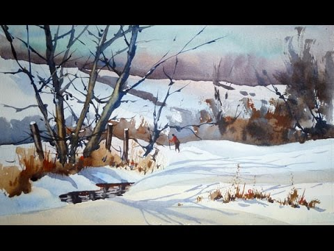 480x360 Painting A Snow Scene In Watercolour