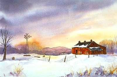 400x264 Fading Light Watercolor Painting By Nita Leland