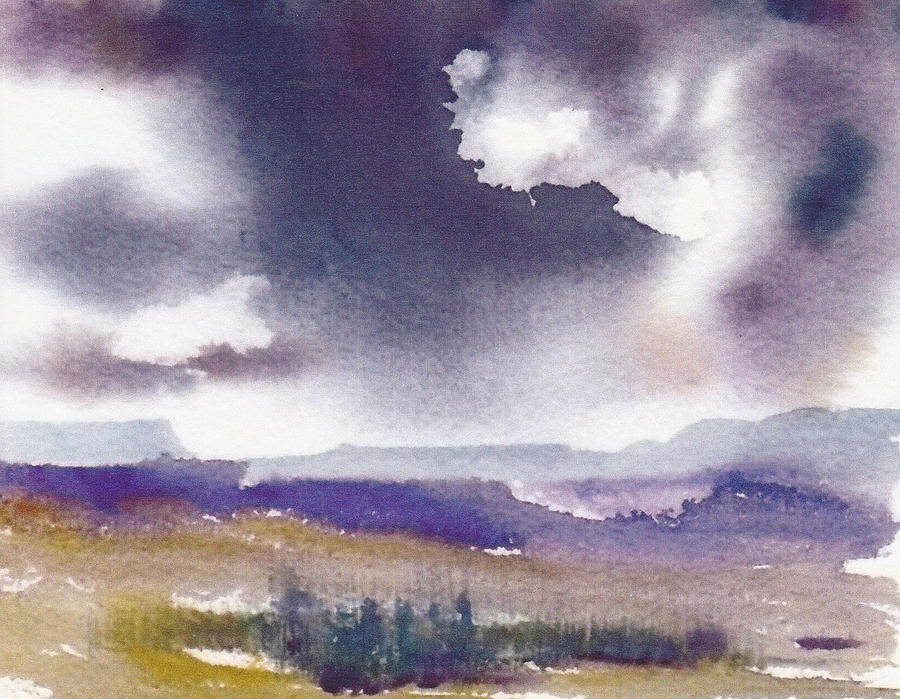 900x699 Stormy Skies Painting By Anne Duke