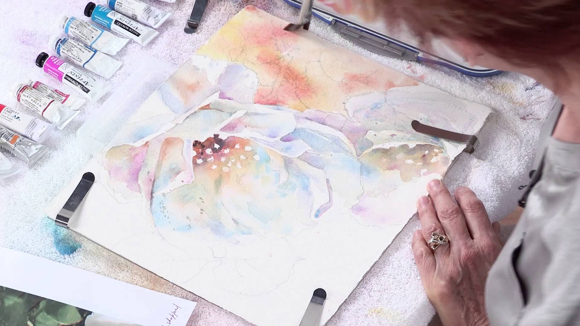 1920x1080 Preview Watercolor Unleashed Painting White Flowers With Julie