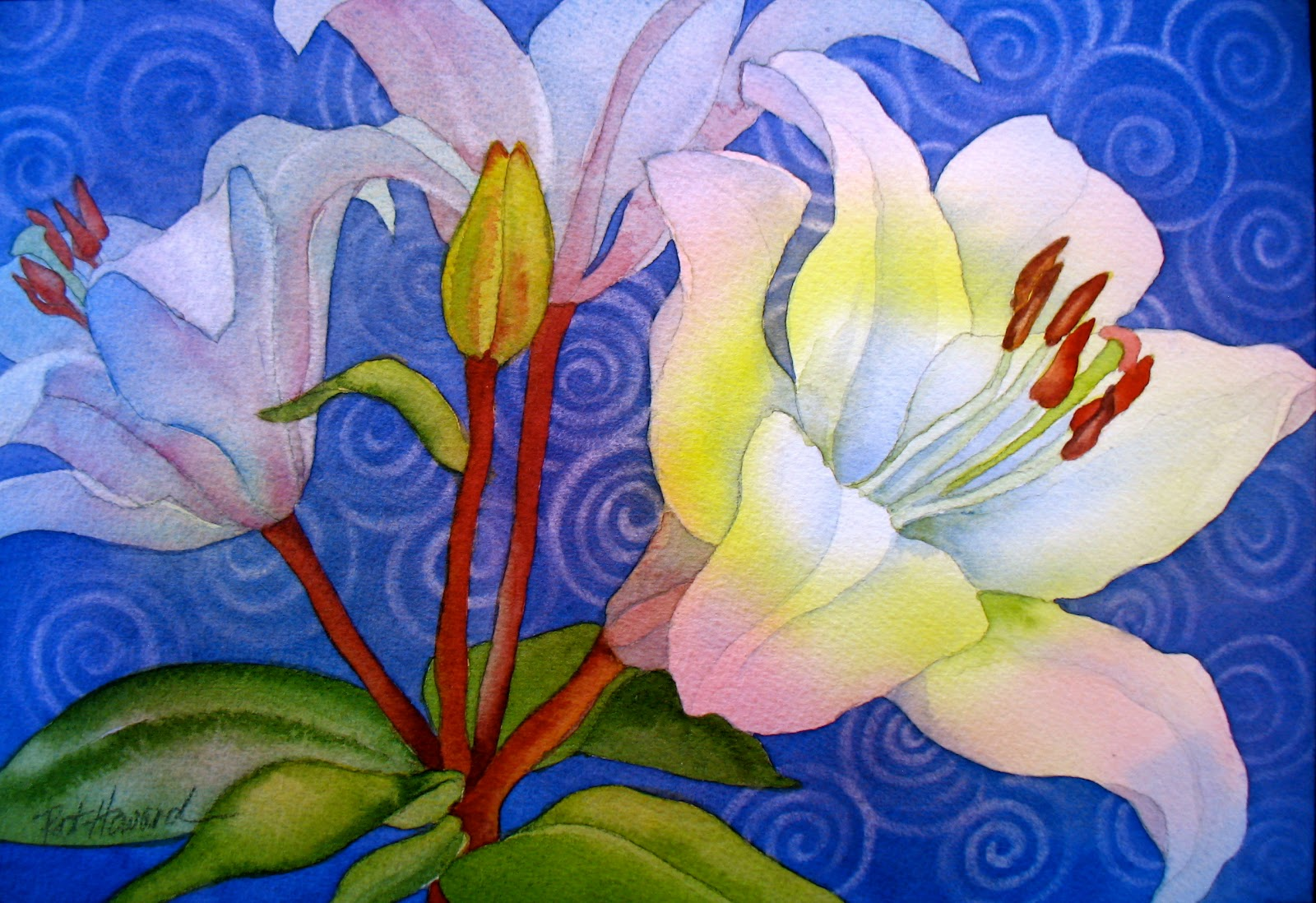 1600x1098 The Painted Prism Watercolor Workshop Painting White Flowers