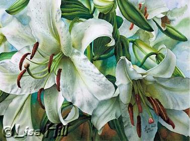 378x280 Watercolor Painting Demonstration Of Casa Blanca Lilies Floral