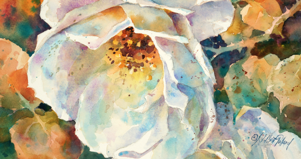 600x317 Watercolor Unleashed How To Paint White Flowers