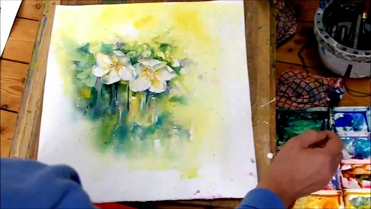 1280x720 How To Paint White Flowers In Watercolour By Sheila Gill