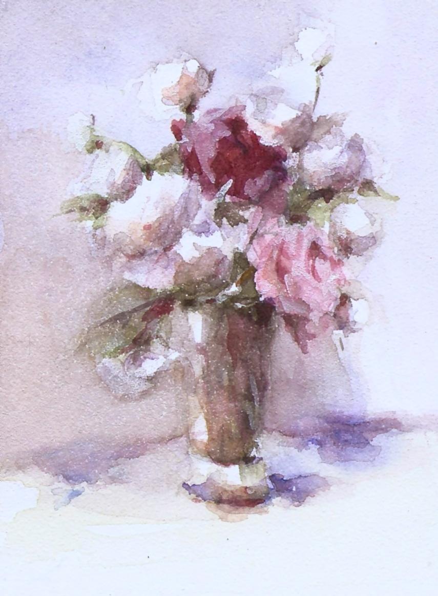 855x1164 Joyce Washor White Watercolor Flowers
