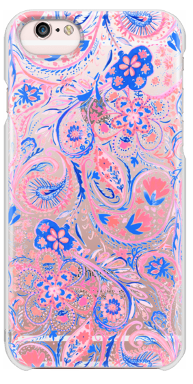 282x560 Paisley Watercolor Blue Coral Casetify