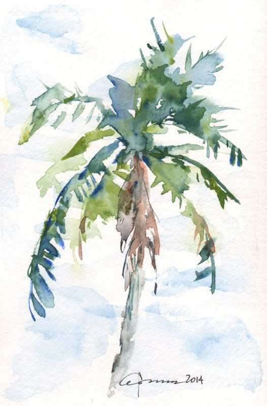 526x800 Palm Tree Painting Beautiful 455 Best Watercolor Trees Images On