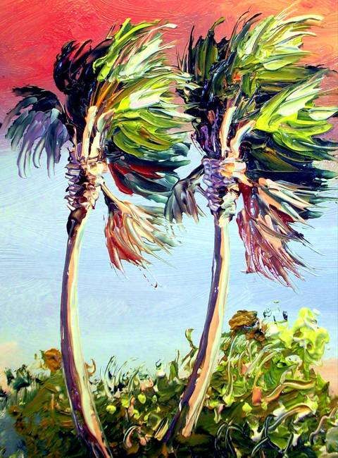 480x650 Palm Trees From Mazz Rio Mar Painting By Mazz Original Paintings