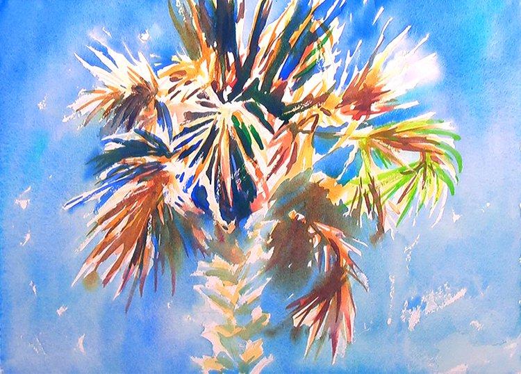 750x538 Charleston Palm Tree Watercolor Painting Tutorial