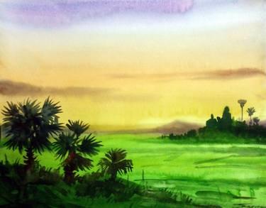 375x293 Sunset Village Amp Palm Trees