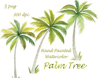 340x270 Watercolor Palm Tree Etsy