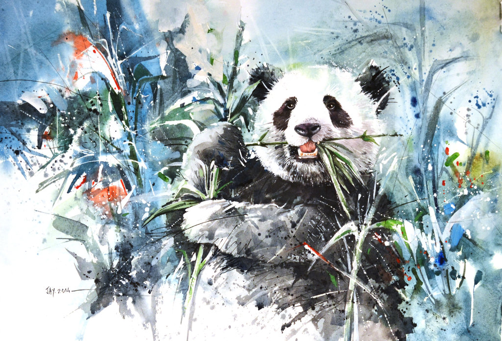 1024x696 Panda Bear By Abstractmusiq