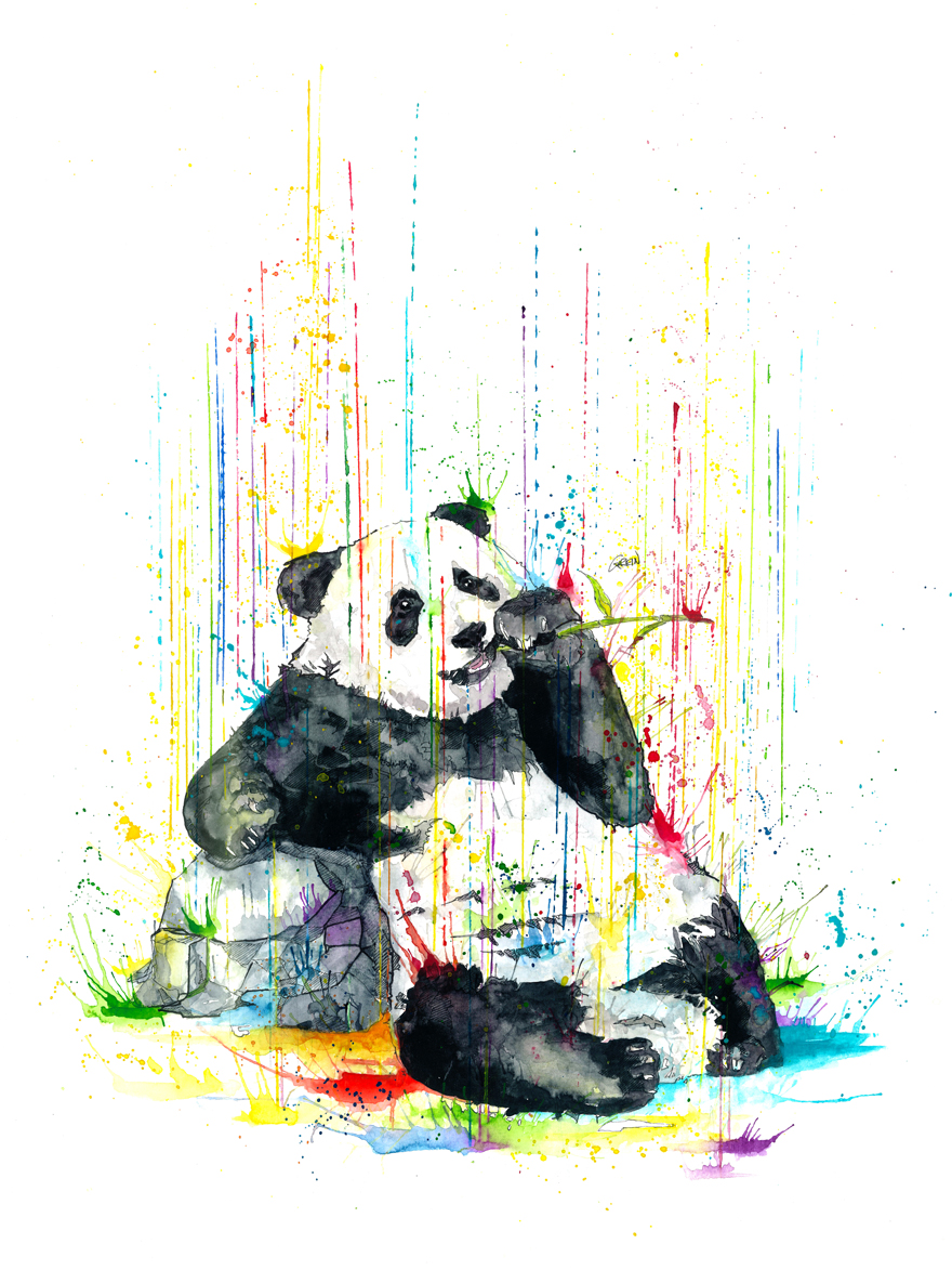 880x1173 Quiet Animals In Loud Watercolors Bored Panda
