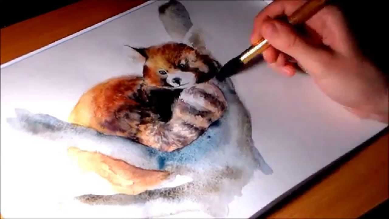 1280x720 Red Panda Speed Painting Tutorial In Watercolors