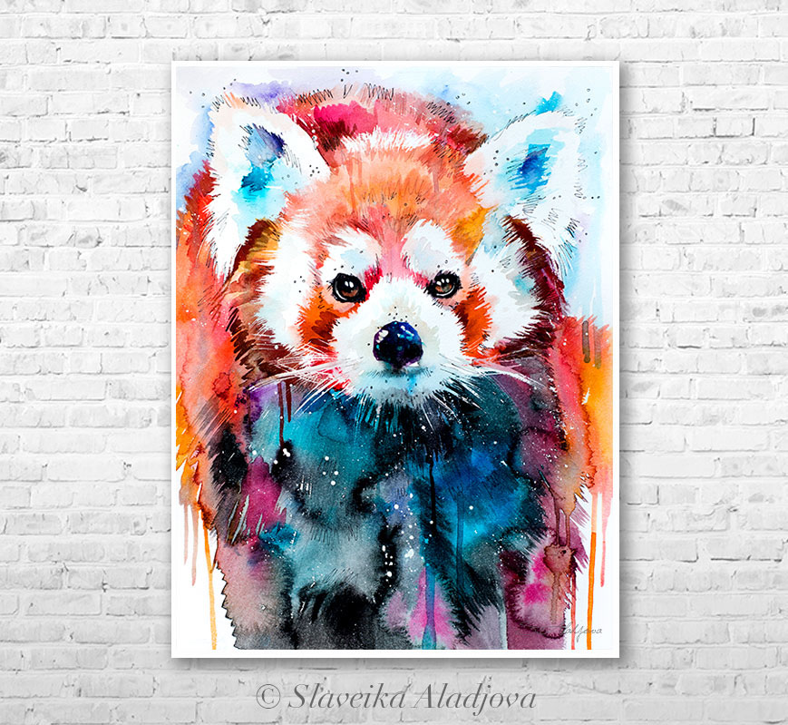 869x799 Red Panda Watercolor Painting By Slaveika Aladjova On Behance