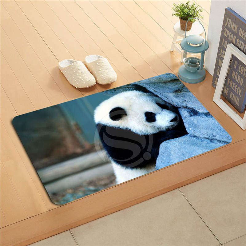 800x800 W530l23 Custom Animals Bears Panda Watercolor Painting Doormat