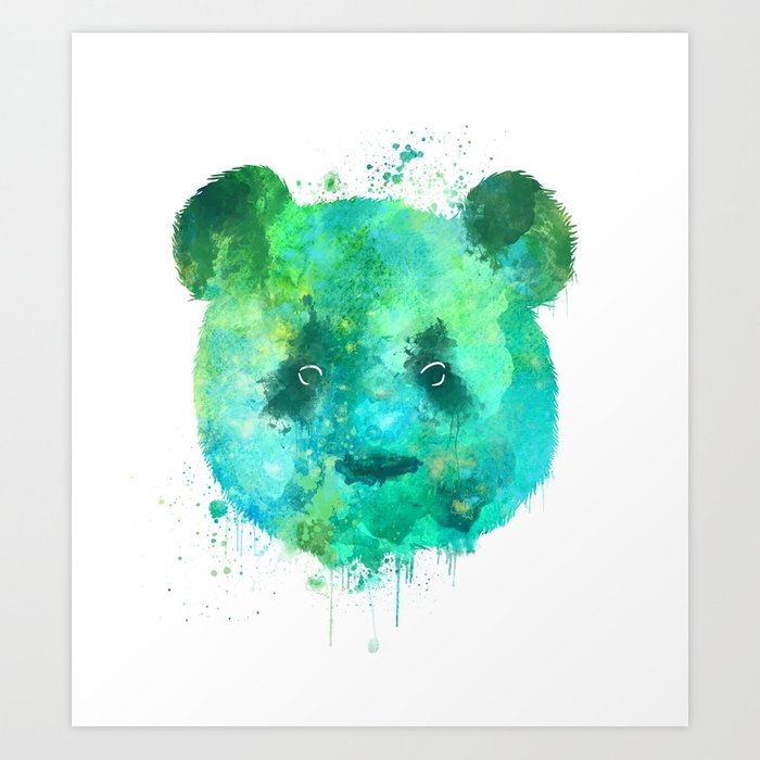 700x700 Watercolor Panda Painting Art Print By Thubakabra Society6