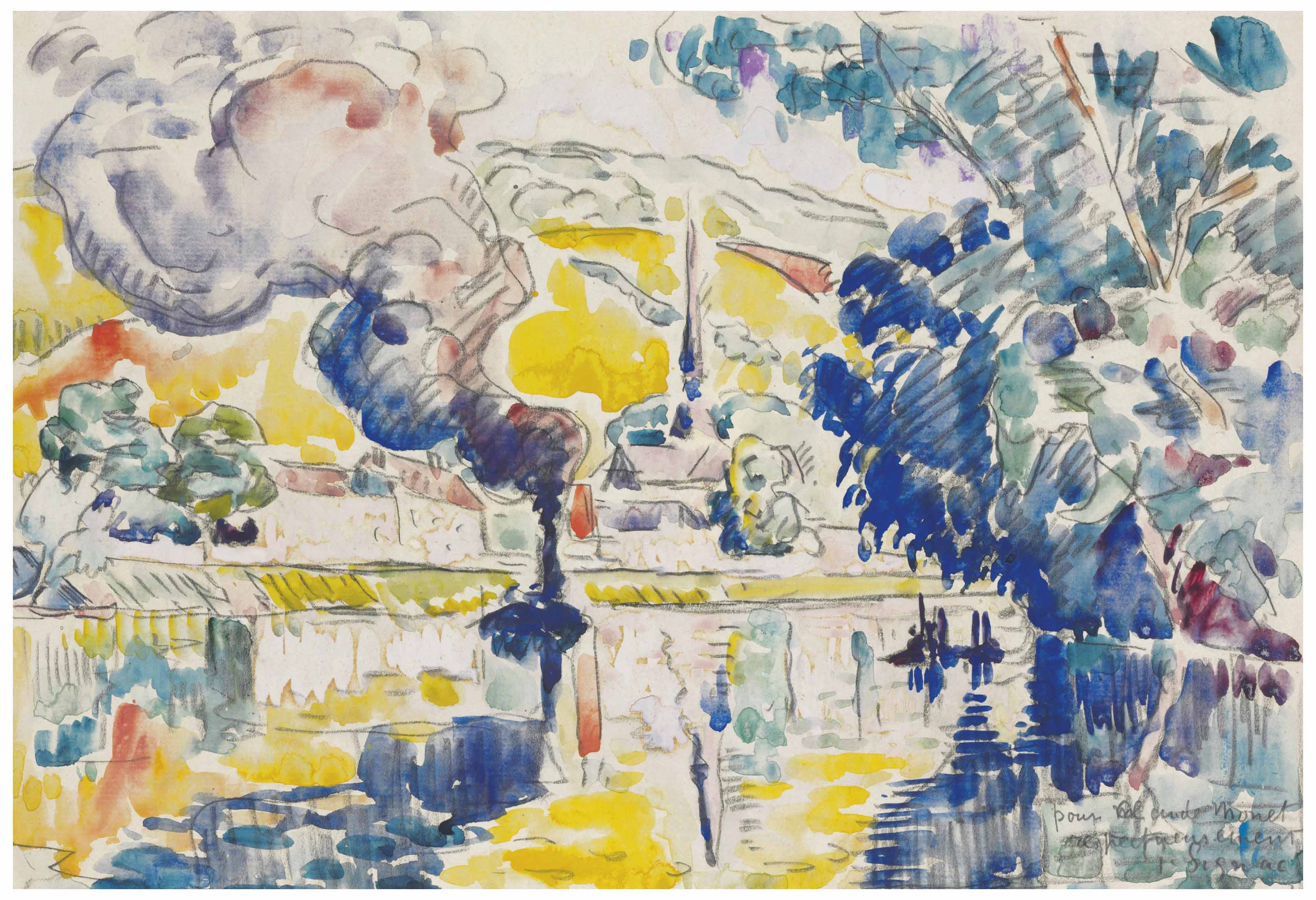 3200x2187 Paul Signac (1863 1935) Les Andelys 20th Century, Drawings