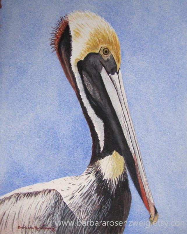 642x806 Pelican Bird Print Nautical Home Decor Pelican Wall Art Etsy