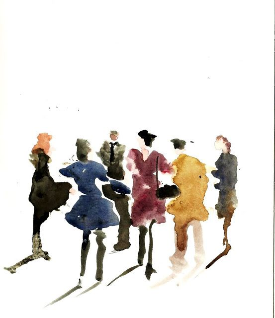 553x640 Photos Watercolor People Figures,