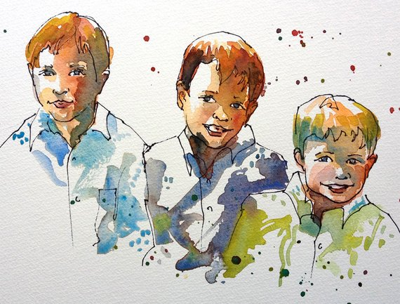 570x433 Pictures Watercolour Paintings Of People,