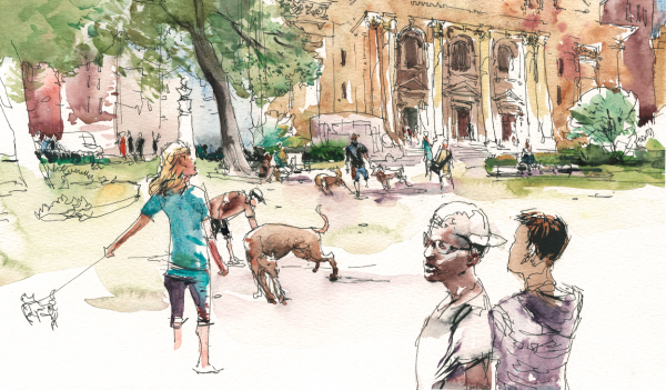 600x351 Urban Sketching Drawing People In Places