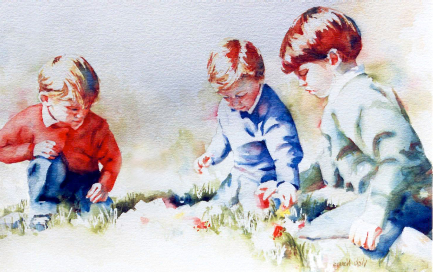 1467x921 Watercolor Paintings Of People Watercolor Portrait Of 3 People In