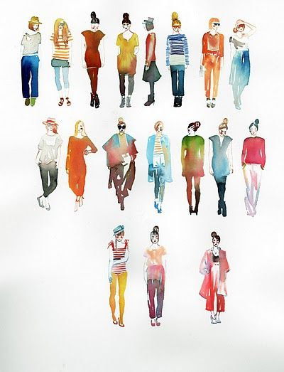 400x523 Watercolor Figures, My Teachers Have Always Said If You Can Paint