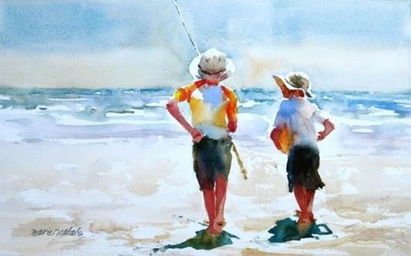 800x499 Artist Demonstration By Marie Natalie People In Watercolors