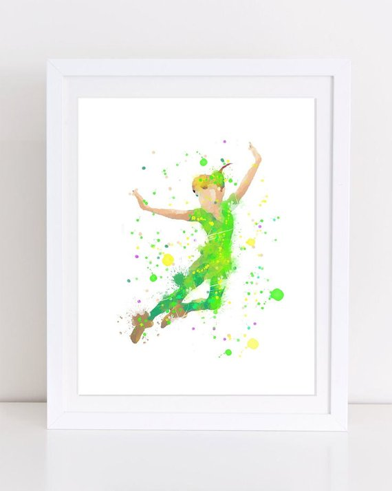 Peter Pan Watercolor
