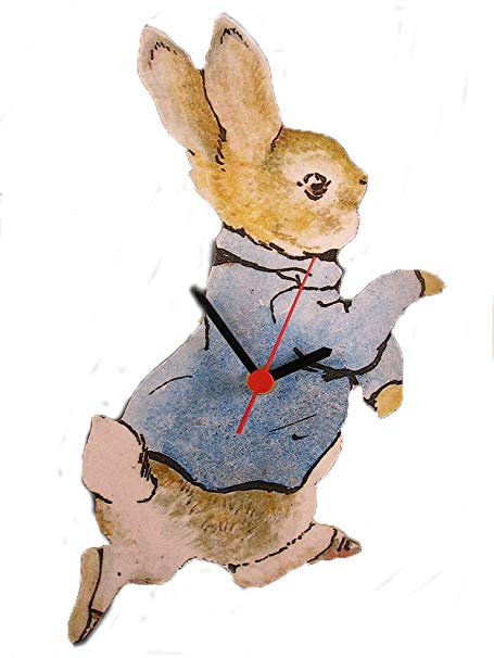 455x606 Peter Rabbit Wall Clock Amazon.co.uk Kitchen Amp Home