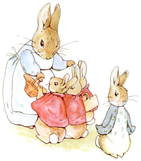 469x533 Beatrix Potter, Illustration From The Tale Of Peter Rabbit, C