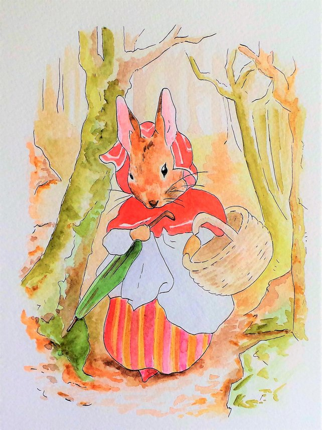 642x855 Peter Rabbit Watercolor Peter Rabbit Nursery Rendition Etsy