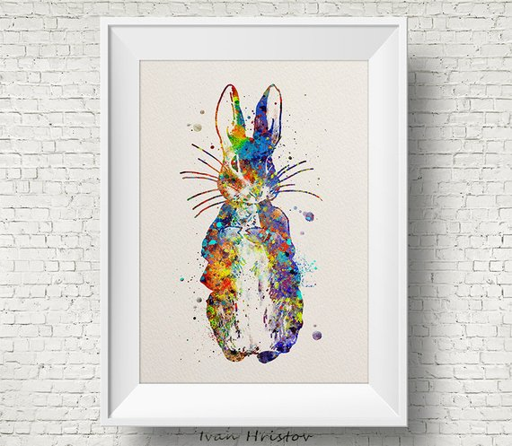 570x497 Peter Rabbit Print Peter Rabbit Beatrix Potter Watercolor Etsy
