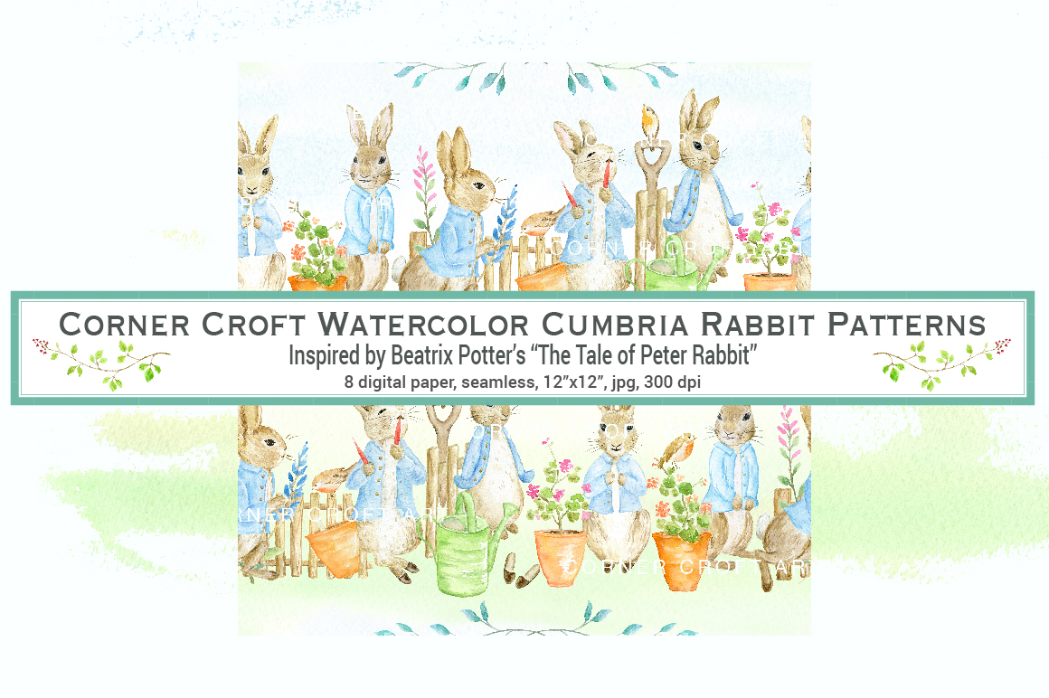 1160x772 Rabbit Pattern Inspired By Tale Of Peter Rabbit By Cornercroft
