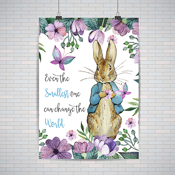567x567 Peter Rabbit Beatrix Potter A2 Or A3 Poster