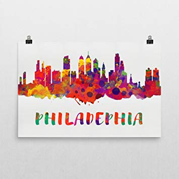 355x355 Philadelphia Skyline, Philadelphia Skyline Canvas
