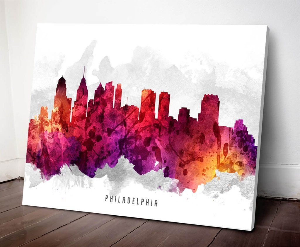 1024x843 Philadelphia Skyline Watercolor Art Print Philadelphia Skyline