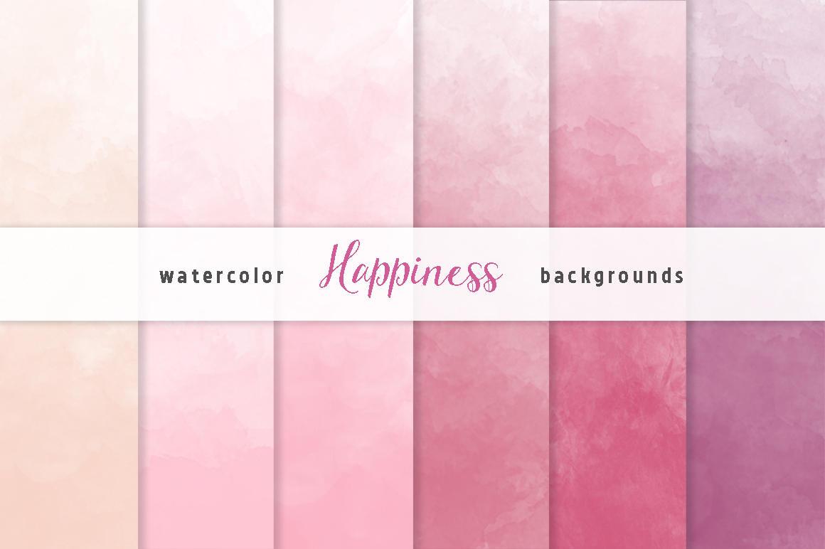 1160x772 Pink Ombre Watercolor Digital Paper Set 6 Digital Etsy