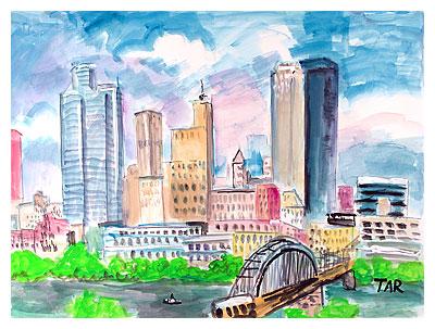 400x303 Pittsburgh Skyline Pennsylvania Pa Mount Washington Skyline Golden