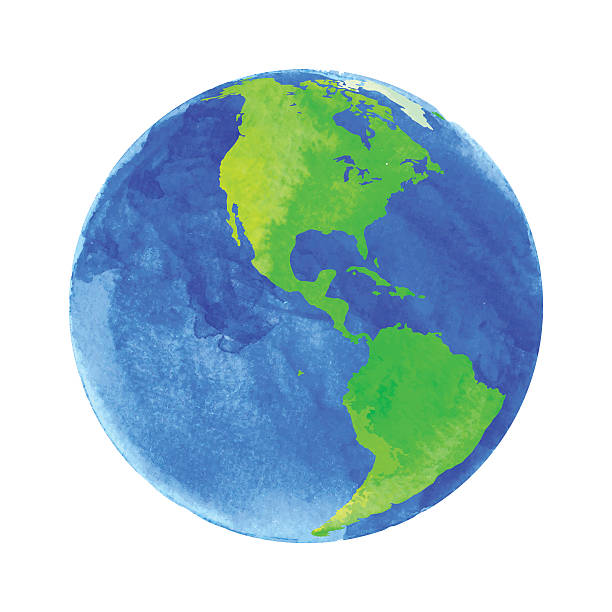 612x612 Clipart Earth Watercolor