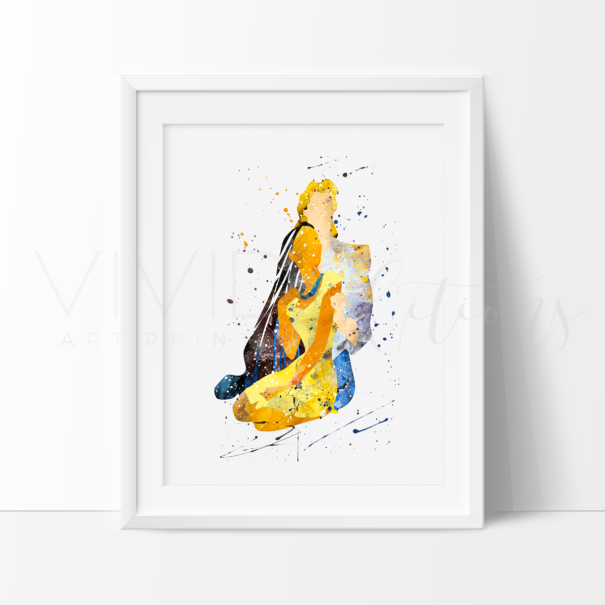 1200x1200 Pocahontas And John Smith, 2 Watercolor Art Print