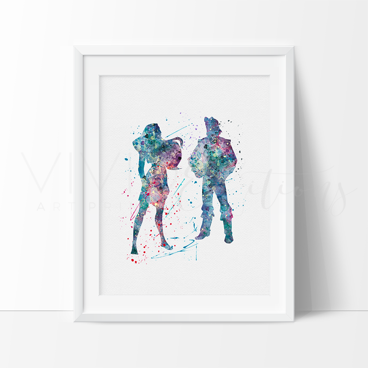 1200x1200 Pocahontas And John Smith Watercolor Art Print