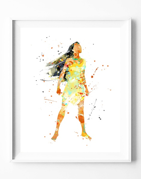 472x600 Wish Princess Pocahontas Watercolor Painting Canvas Art Print