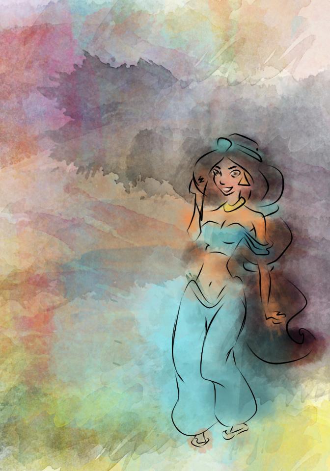 672x960 Jasmine Watercolor By Lizziefresh