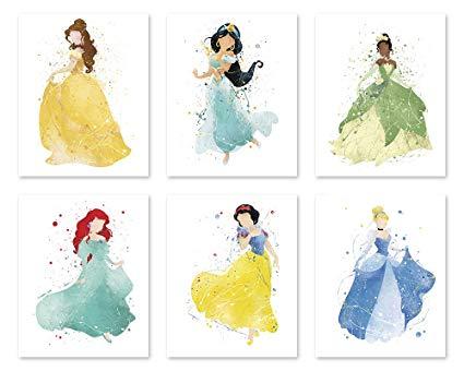 425x340 Princess Wall Decor Poster Art Prints