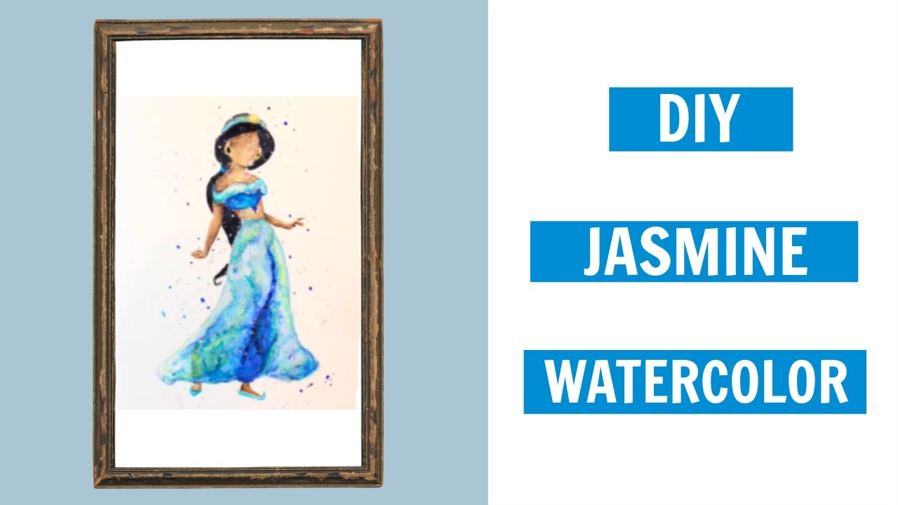 1280x720 Diy Disney Decor Jasmine From Aladdin Watercolor Tutorial