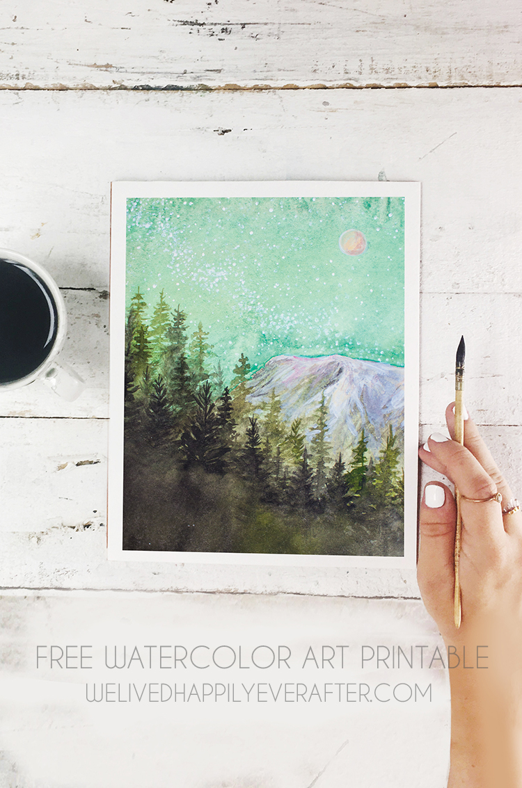photograph relating to Free Printable Watercolor Pictures to Paint named Printable Watercolor Artwork at  No cost for